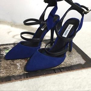 Steve Madden Blue Pointy Toe Stiletto Heels Size 8
